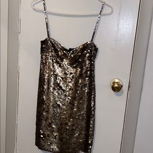 Kate Moss- sequin spaghetti strap dress